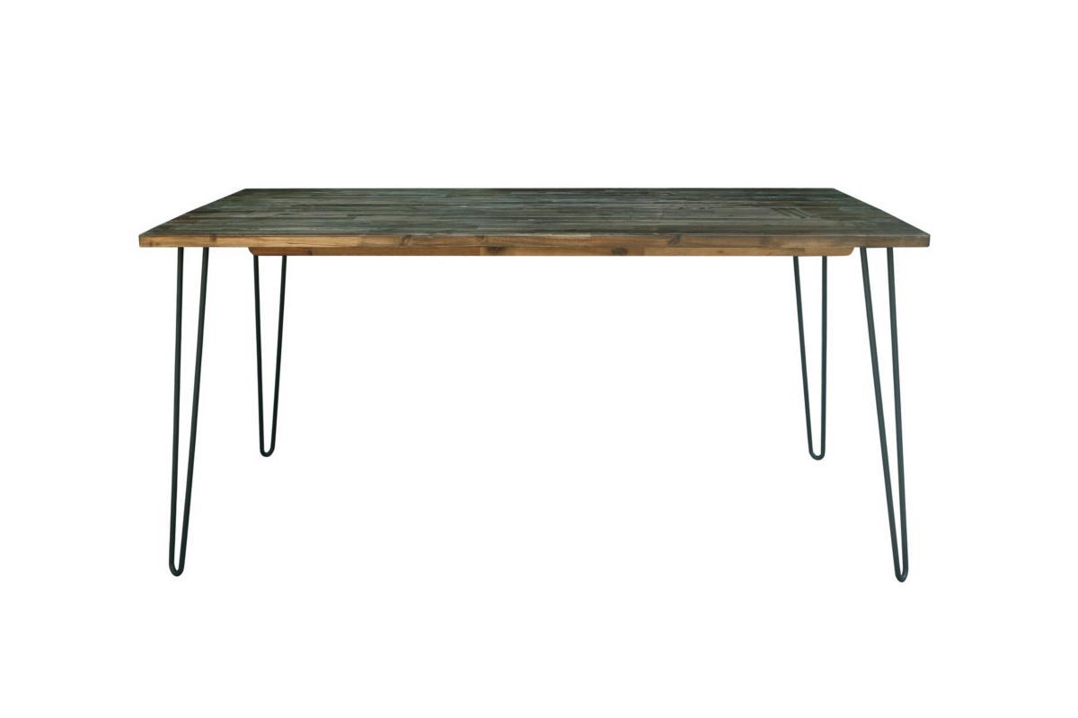 Jedálenský stôl Anaya, 160 cm, vintage hnedý
