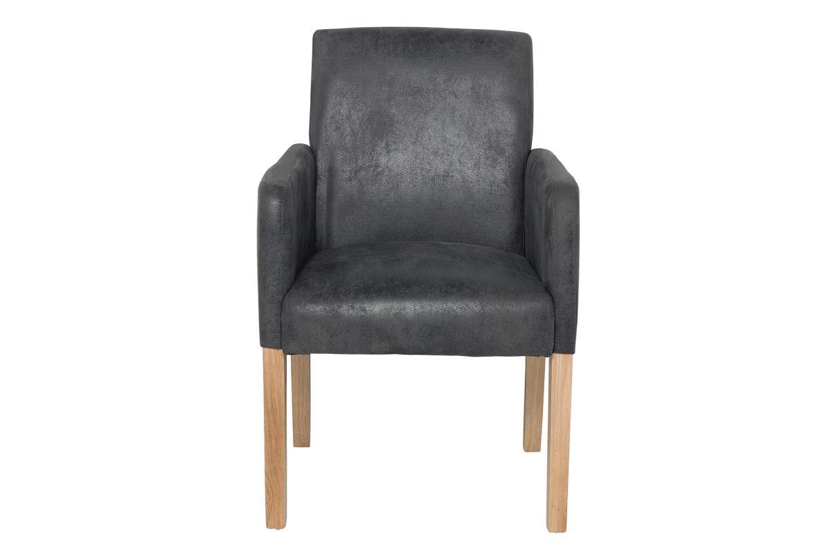 Dizajnová jedálenská stolička Clemente, sivá