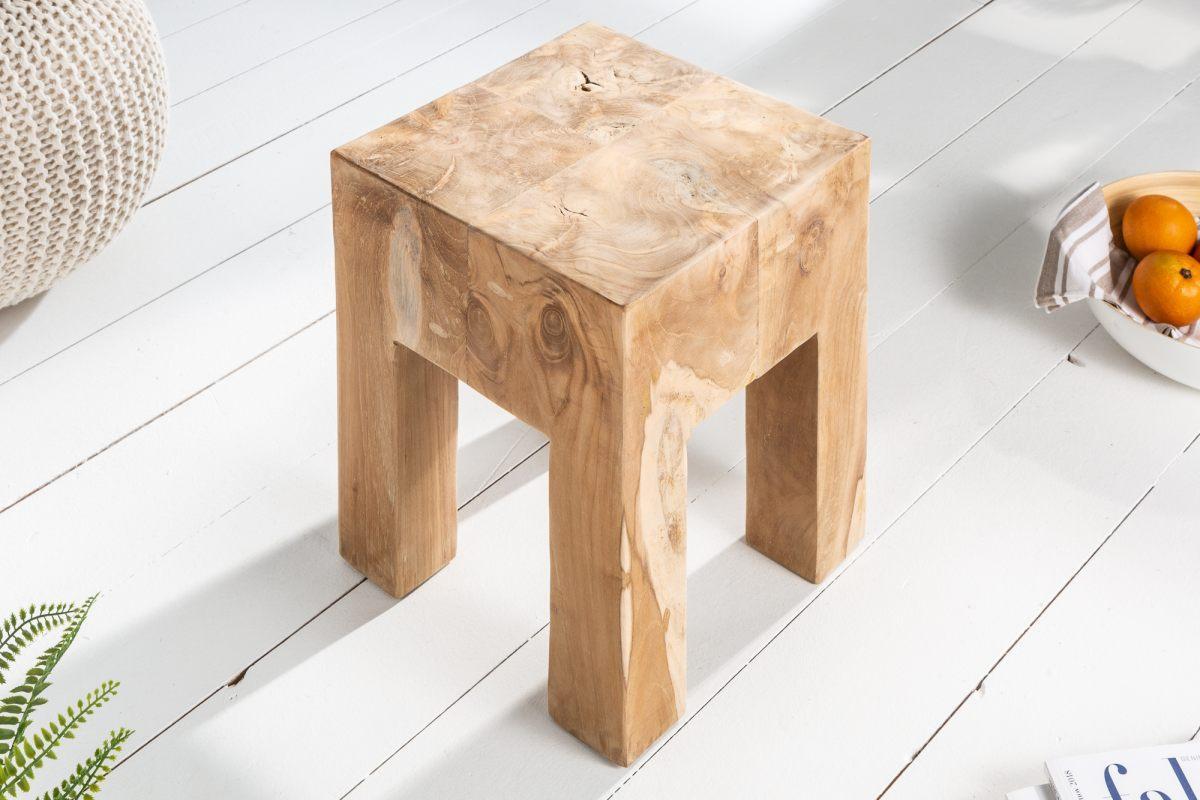 Odkladací stolík / podnožka Nia, teak