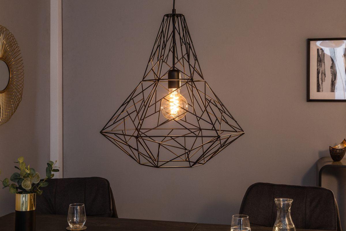 Dizajnová závesná lampa Bruce L, čierna