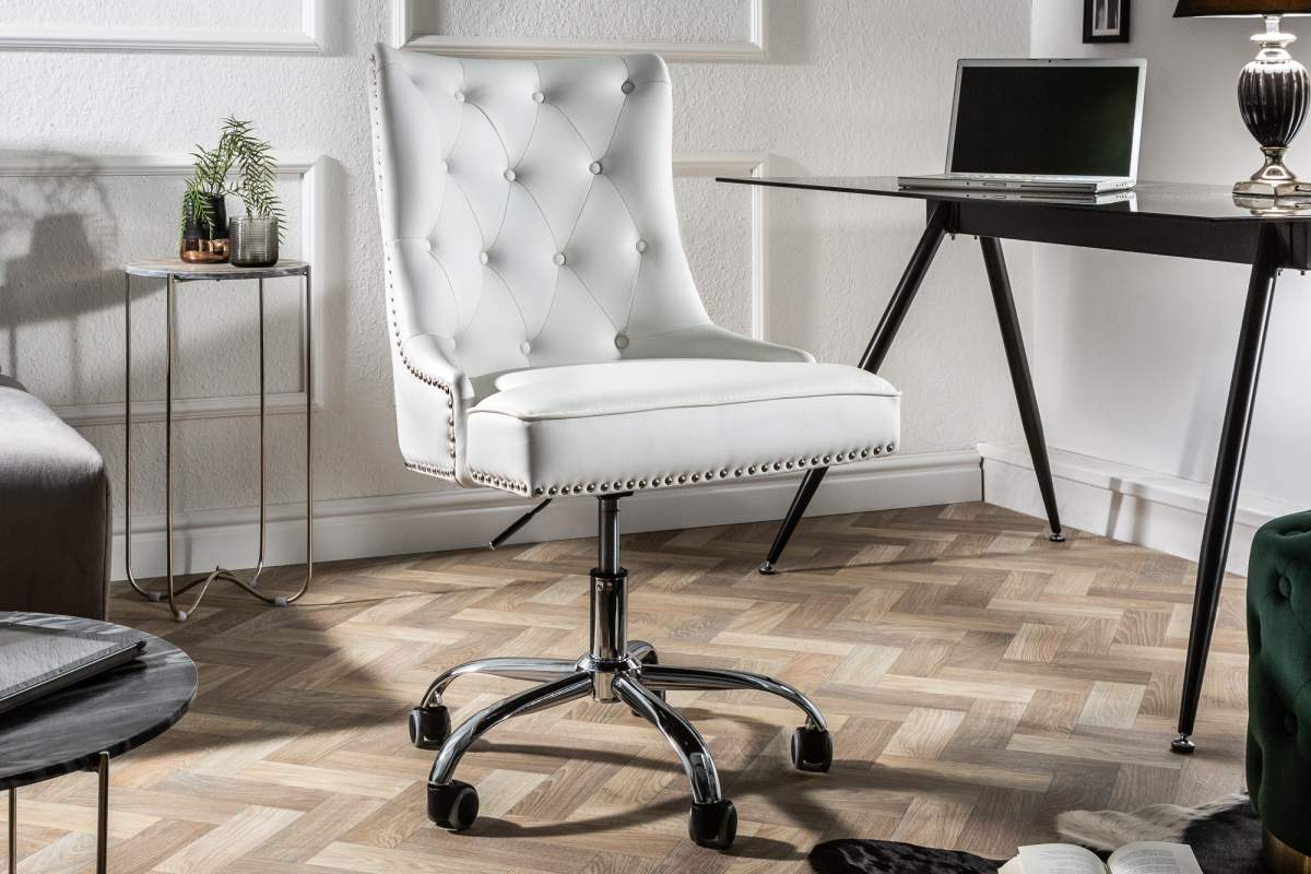 LuxD Kancelárska stolička Jett biela