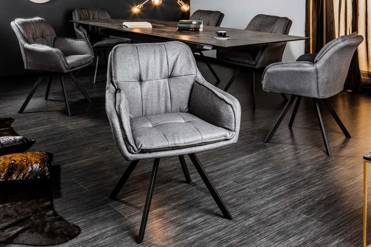 Dizjanová stolička Joe, sivá