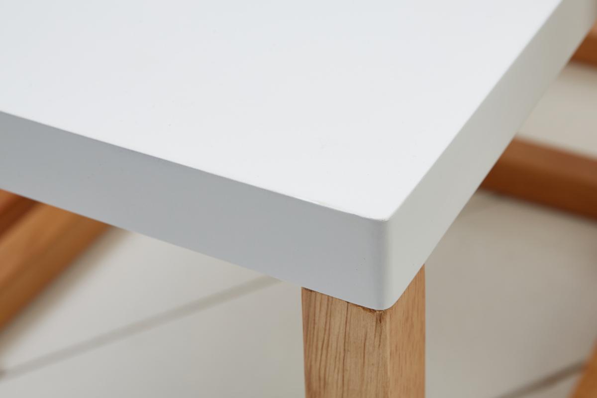Set 3 odkladacích stolíkov Lilliana, biela, dub
