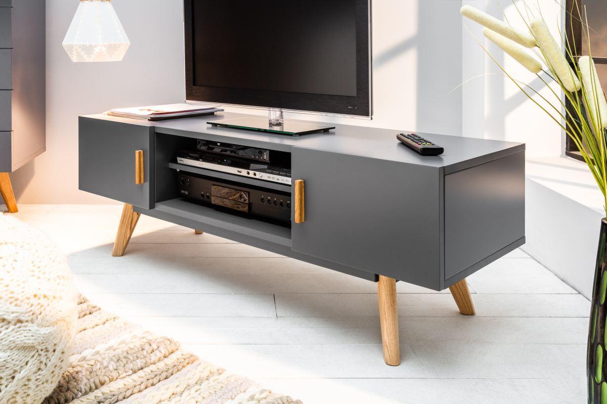 TV stolík Sweden 120 cm sivý
