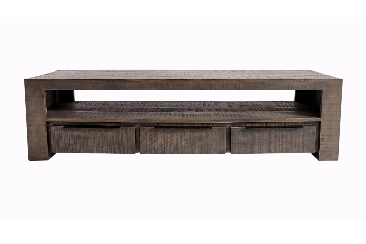 Dizajnový TV stolík Thunder 170 cm, sivé mango