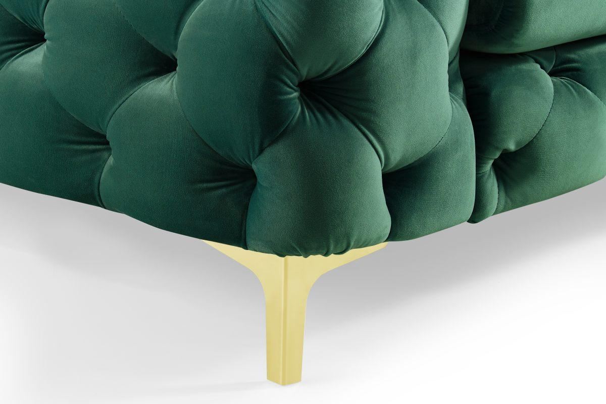 Dizajnová sedačka Rococo, 240 cm, zelená
