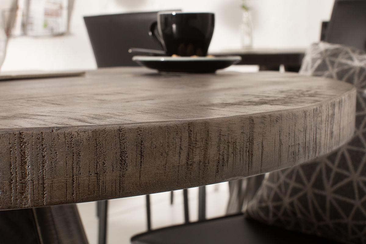 Okrúhly jedálenský stôl Thunder, 80 cm, sivé mango