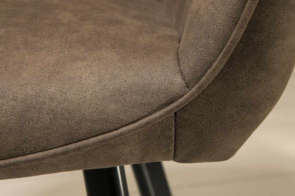 Dizajnová stolička Francesca, sivohnedá taupe