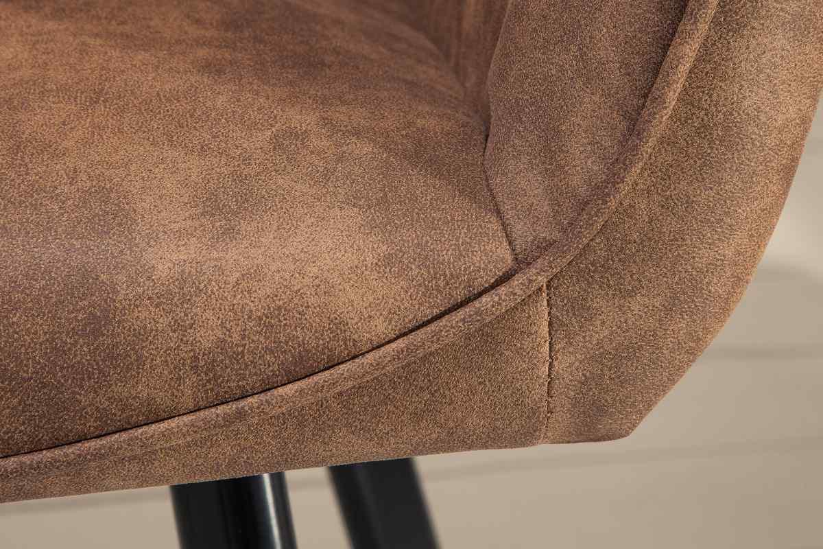 Dizajnová stolička Francesca, svetlohnedá