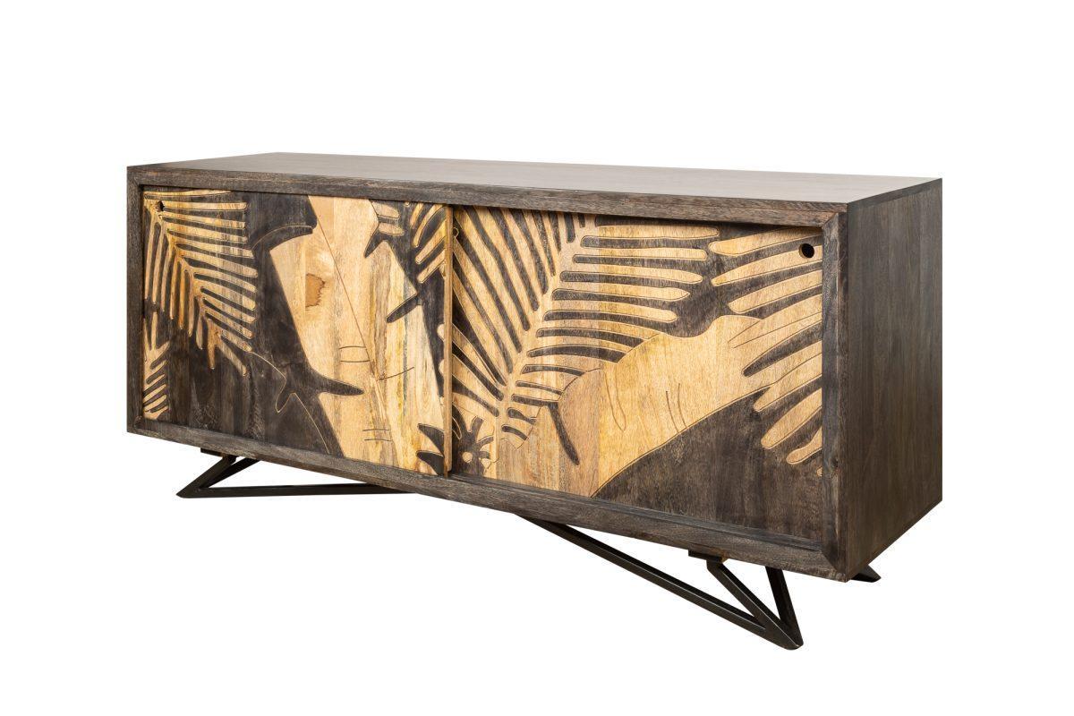 Dizajnová komoda Leland, 160 cm, mango