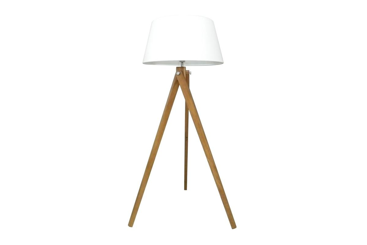 Dizajnová stojanová lampa Dawson, 155 cm, biela