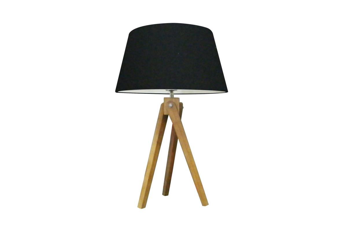Dizajnová stolová lampa Dawson, 64 cm, čierna