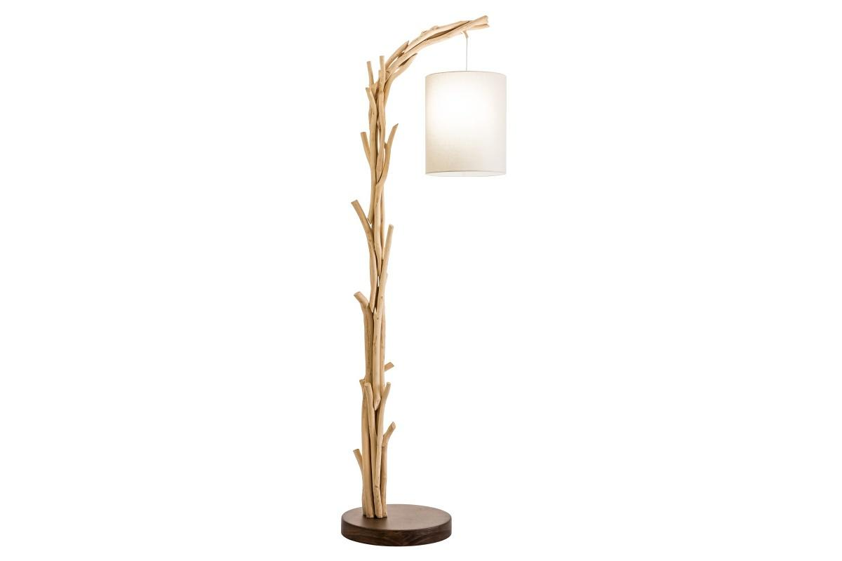 Dizajnová stojanová lampa Arielle, 60 cm, náplavové drevo