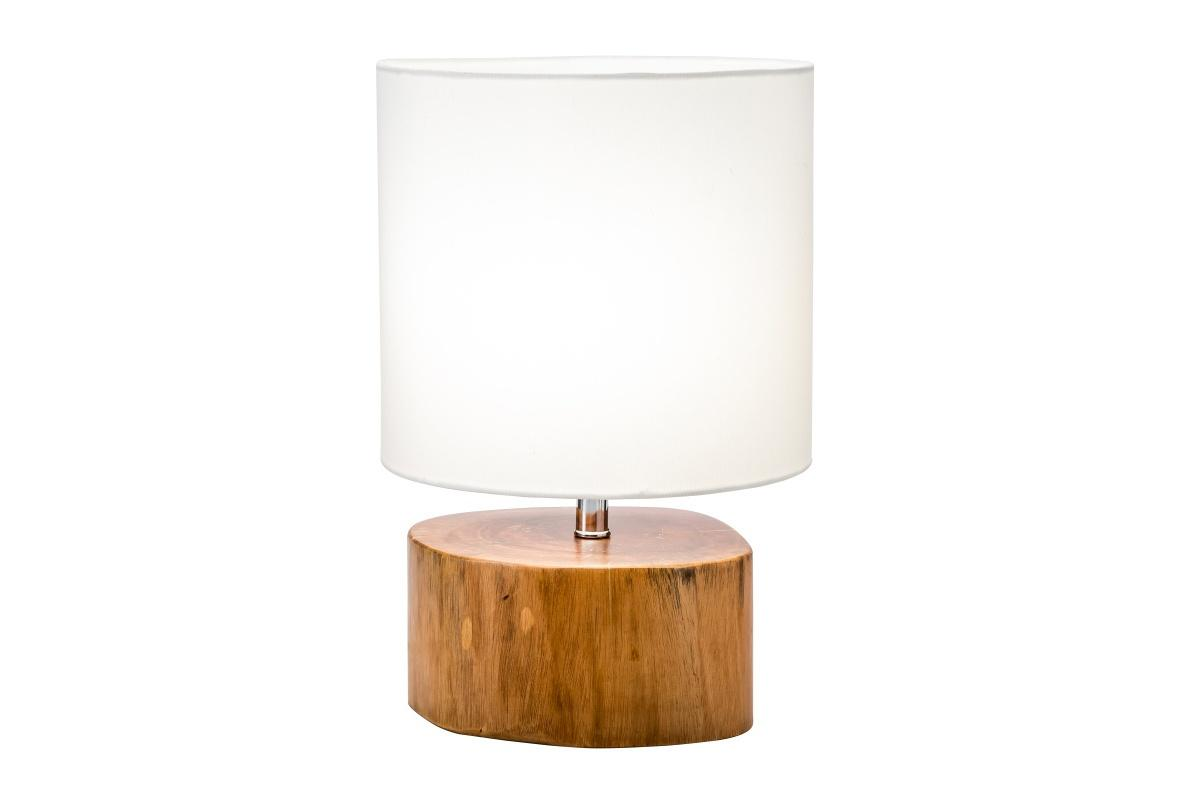 Dizajnová stolná lampa Desmond, 35 cm, mahagón