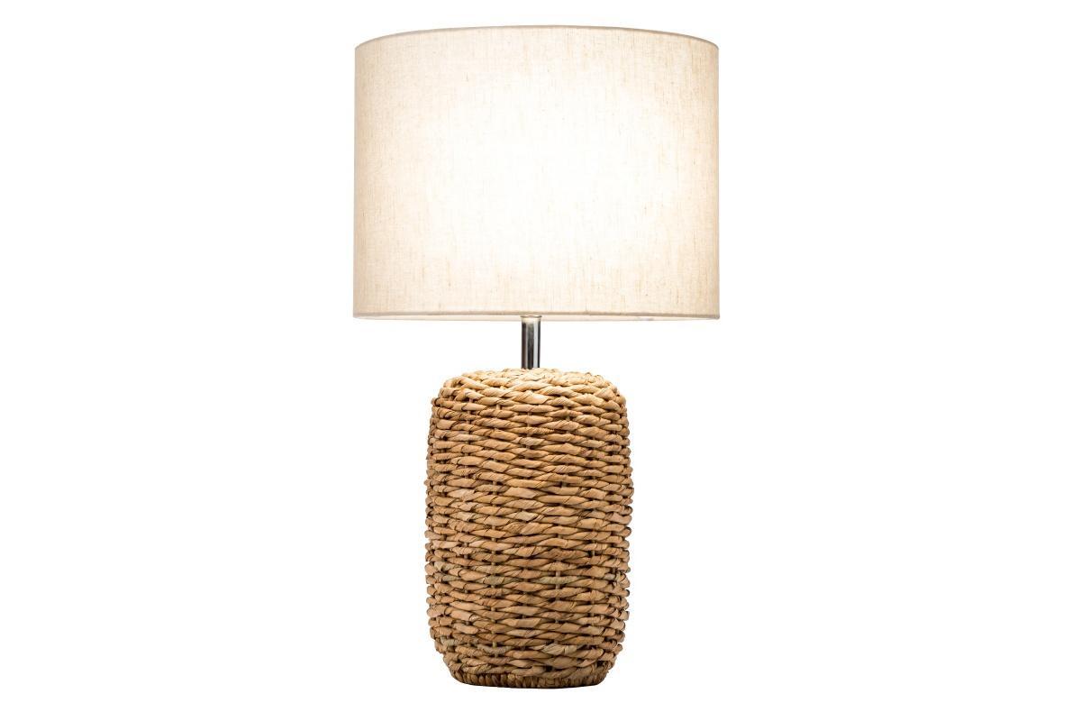 Dizajnová stolná lampa Madyson, 51 cm, pletená