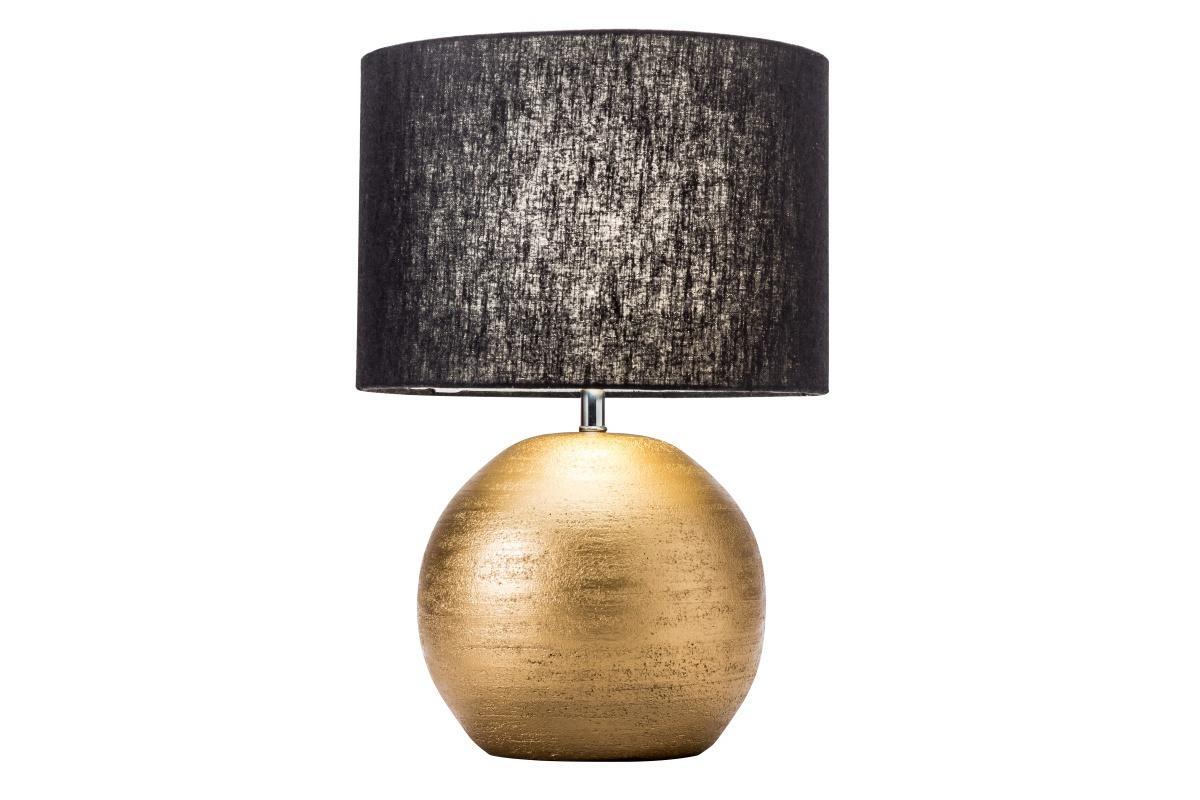 Dizajnová stolná lampa Amira, 45 cm, zlatá / čierna