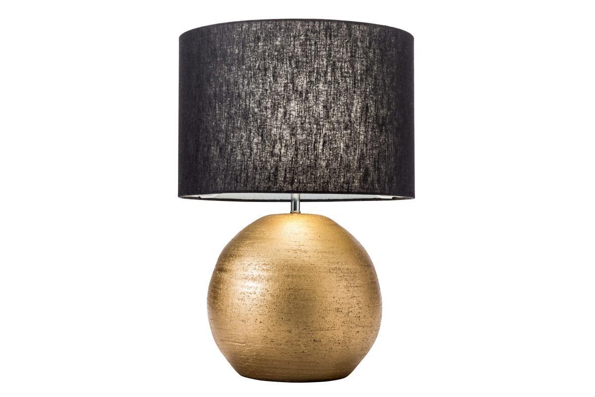 Dizajnová stolná lampa Amira, 57 cm, zlatá / čierna