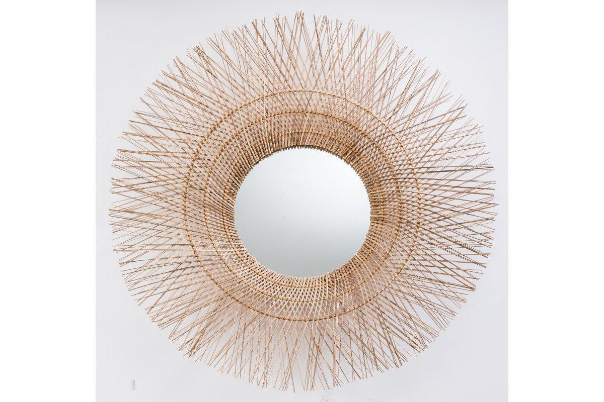 Nástenné zrkadlo Desmond, 85 cm, kokos