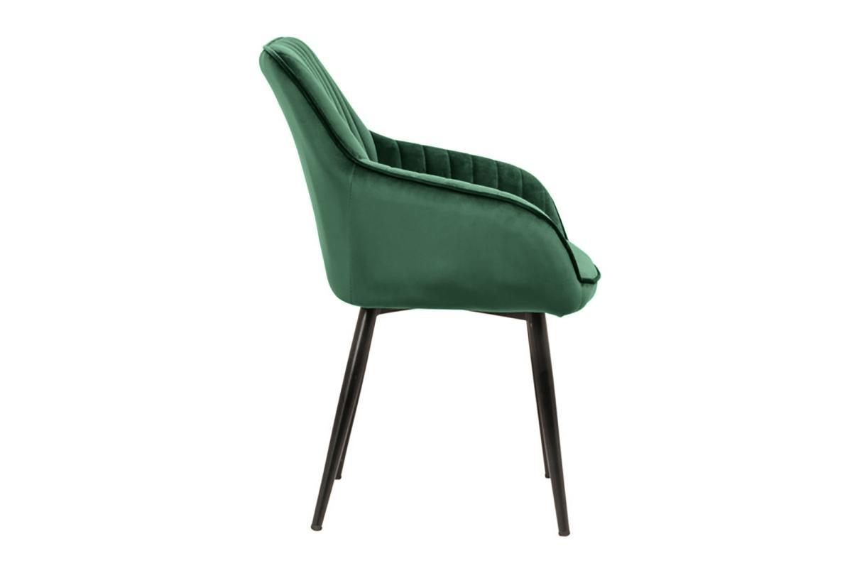 Dizajnová stolička Esmeralda, smaragdová zelená