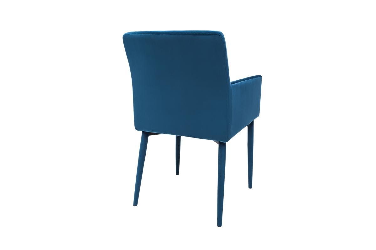 Dizajnová stolička s podrúčkami Neapol, kráľovská modrá
