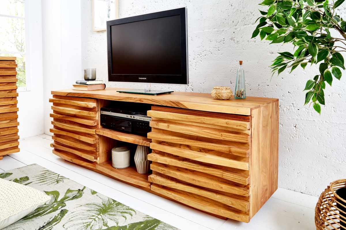 LuxD Dizajnový TV stolík Lorenzo, 150 cm, akácia