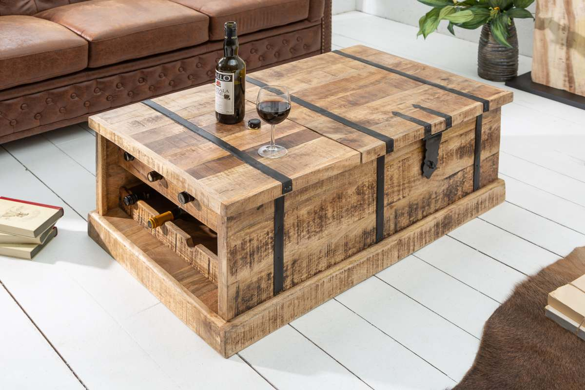 LuxD Dizajnový konferenčný stolík Winebar, 100 cm, mango