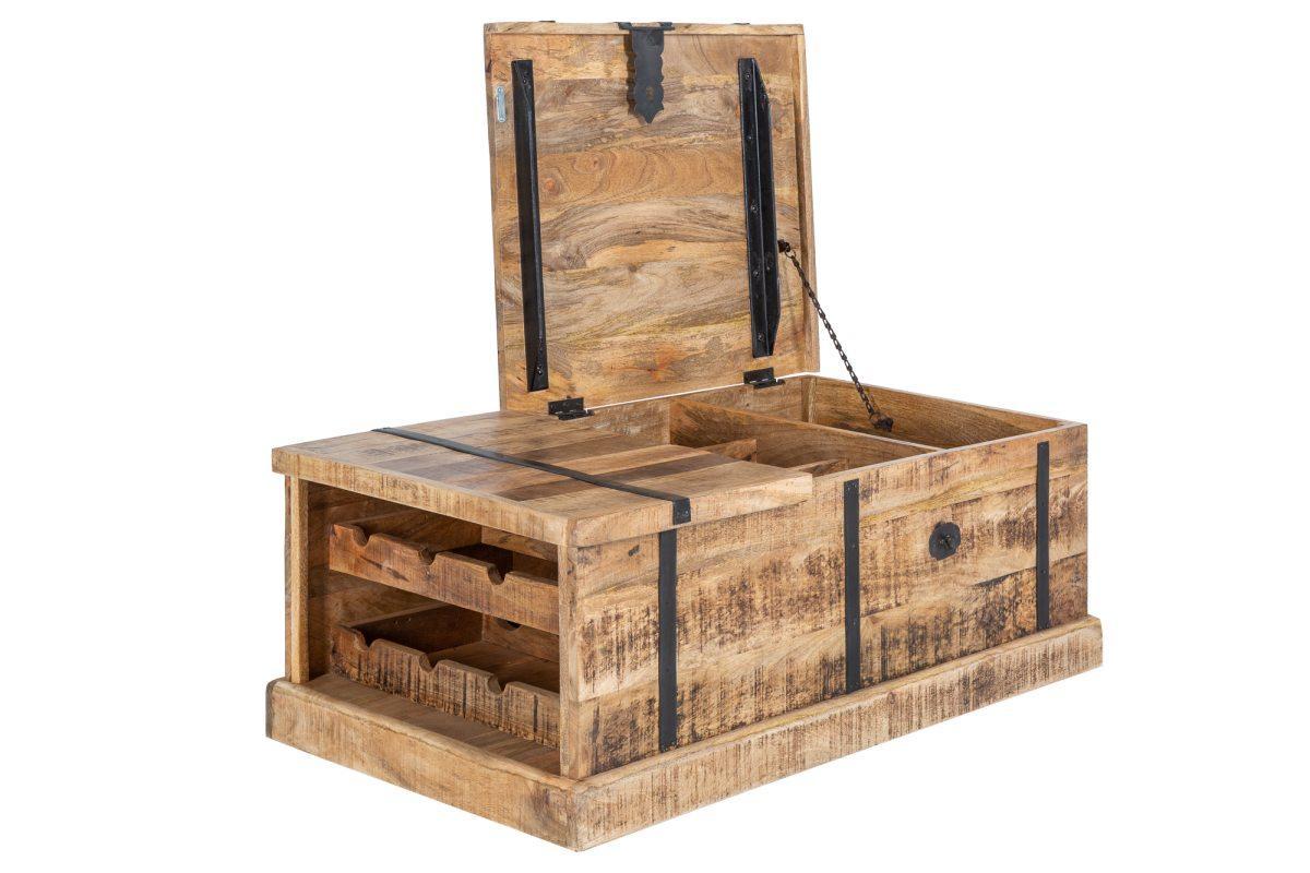 Dizajnový konferenčný stolík Winebar, 100 cm, mango