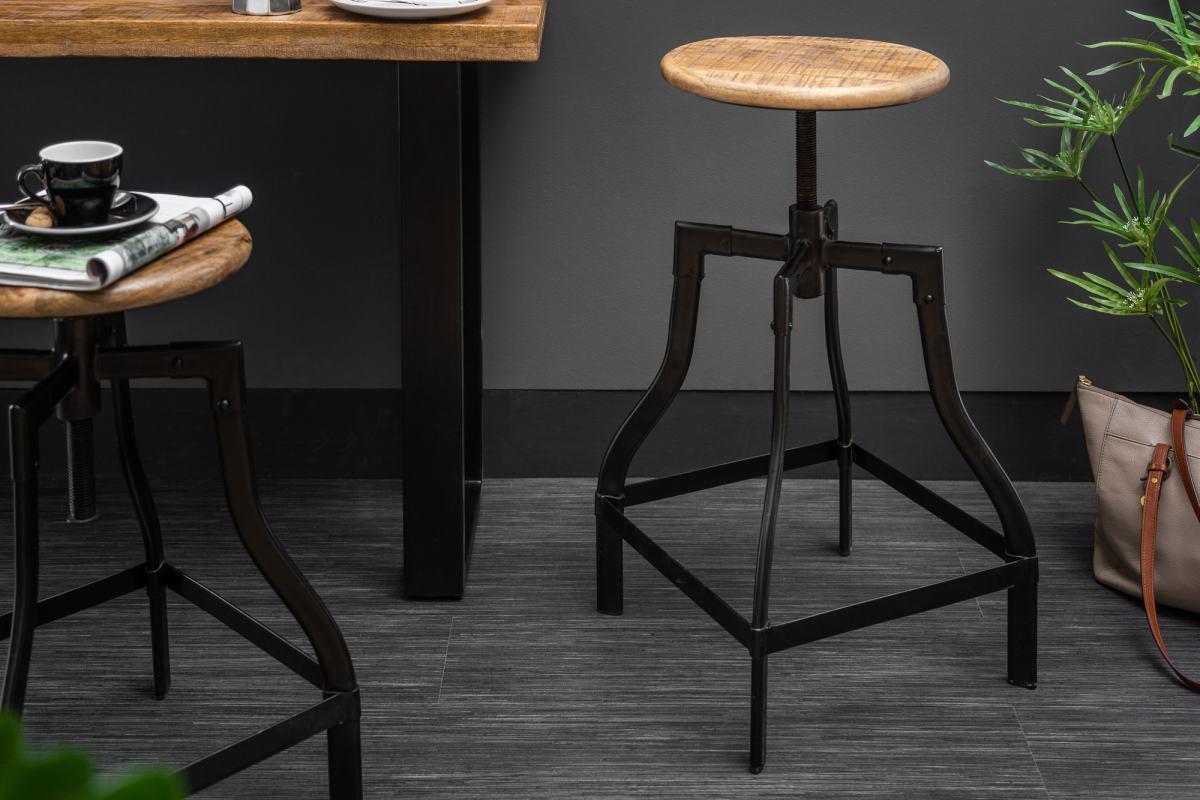 Barová stolička Thunder, 60-74 cm, mango
