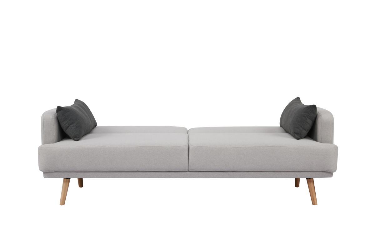 Rozkladacia sedačka Annika, 214 cm, sivá