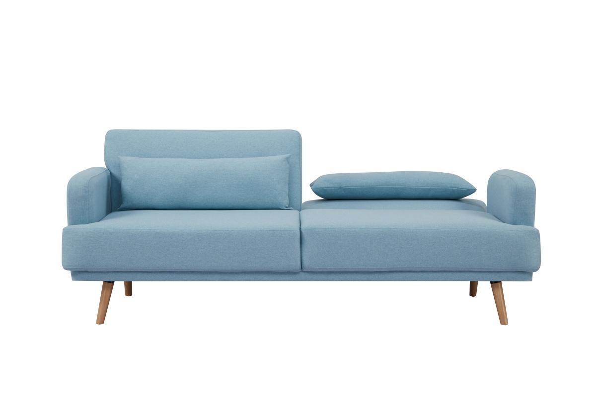 Rozkladacia sedačka Annika, 214 cm, aqua