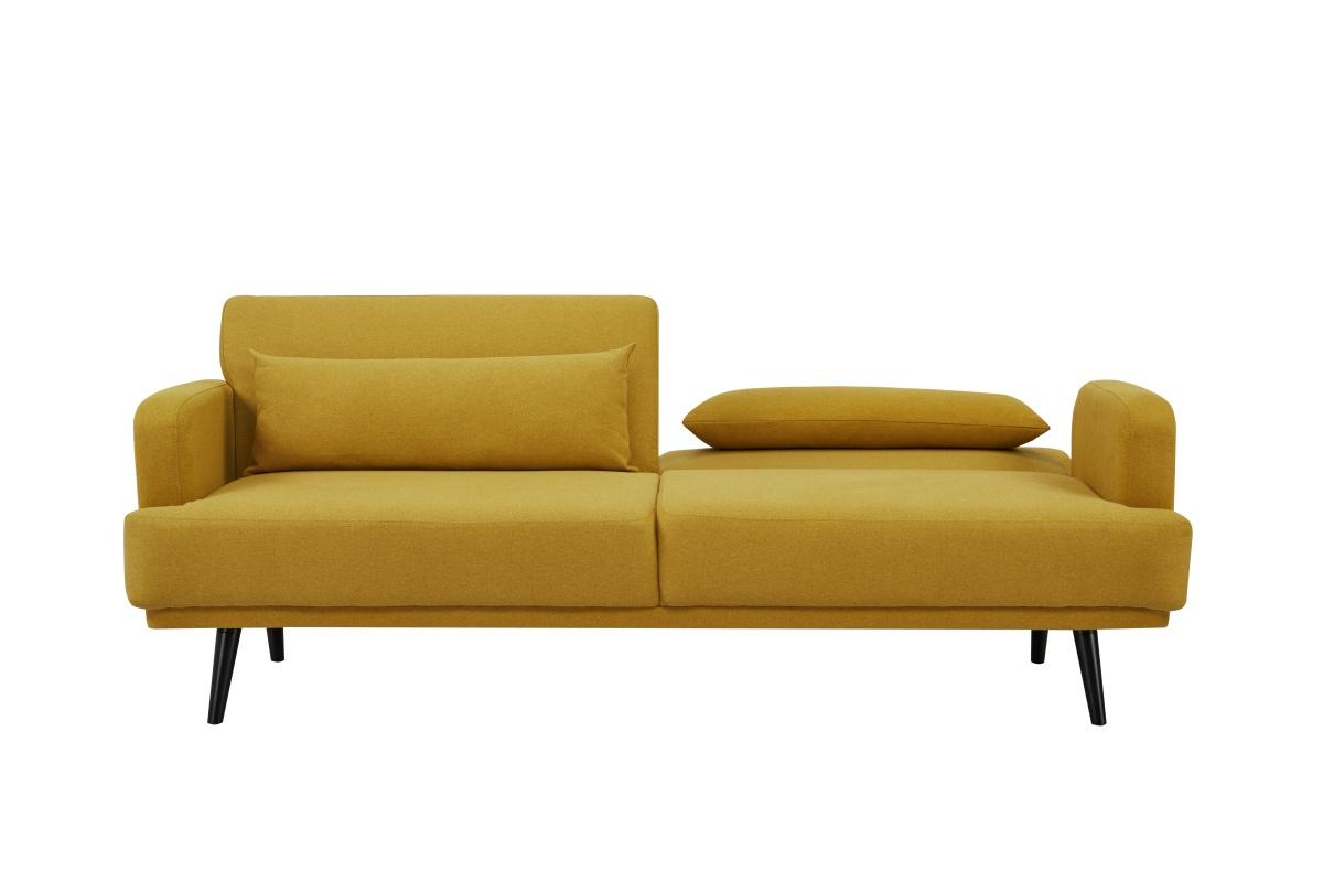 Rozkladacia sedačka Annika, 214 cm, horčicová