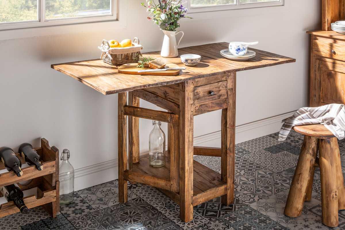 Sklopný stôl Lyric, 119 cm, mahagón