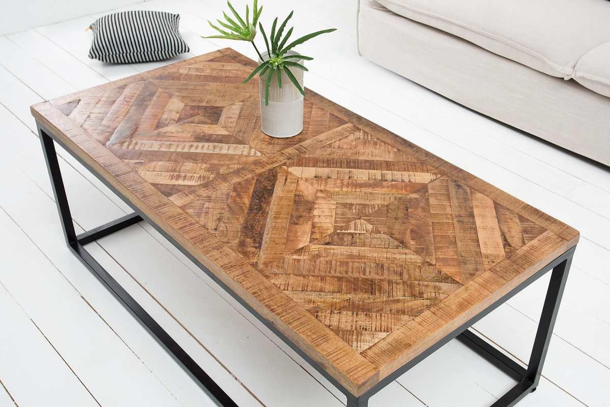 Dizajnový konferenčný stolík Allen Home, 120 cm, mango