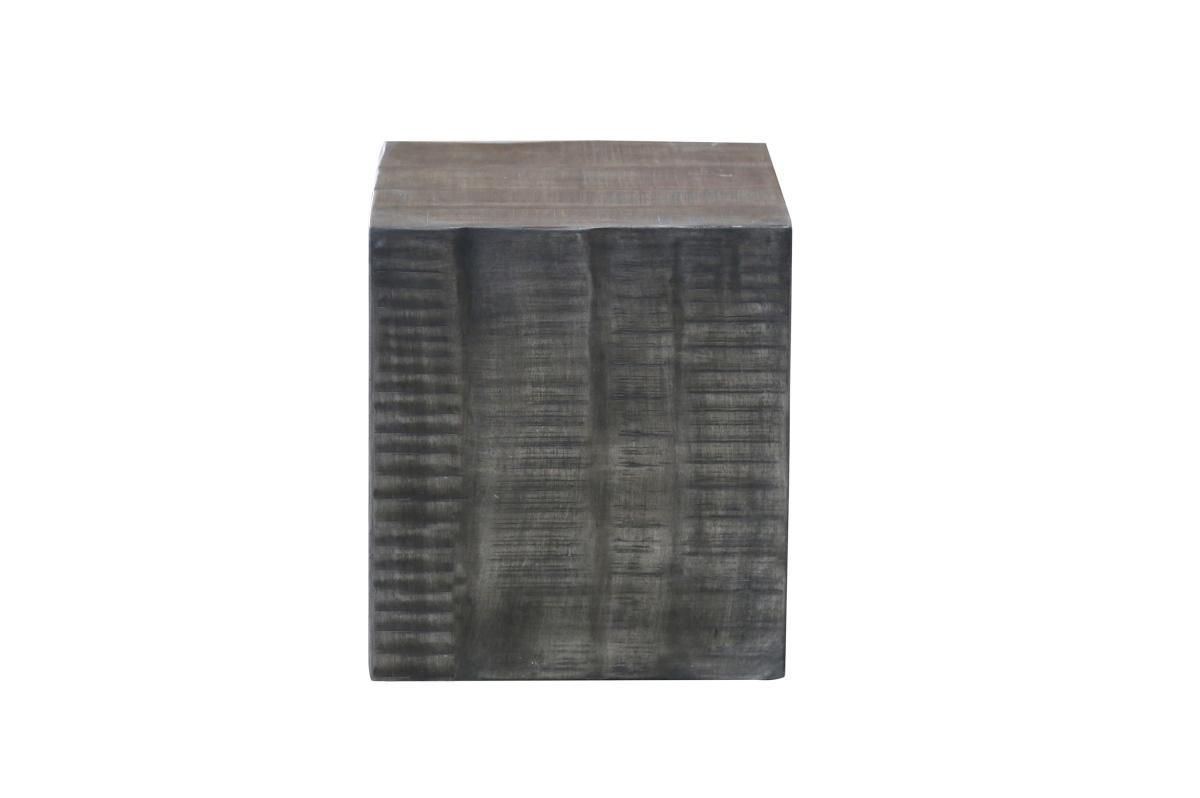 Dizajnová taburetka Unity, 40 cm, sivé mango