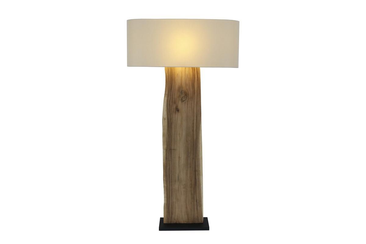 Dizajnová stojanová lampa Lorelei, béžová, orech