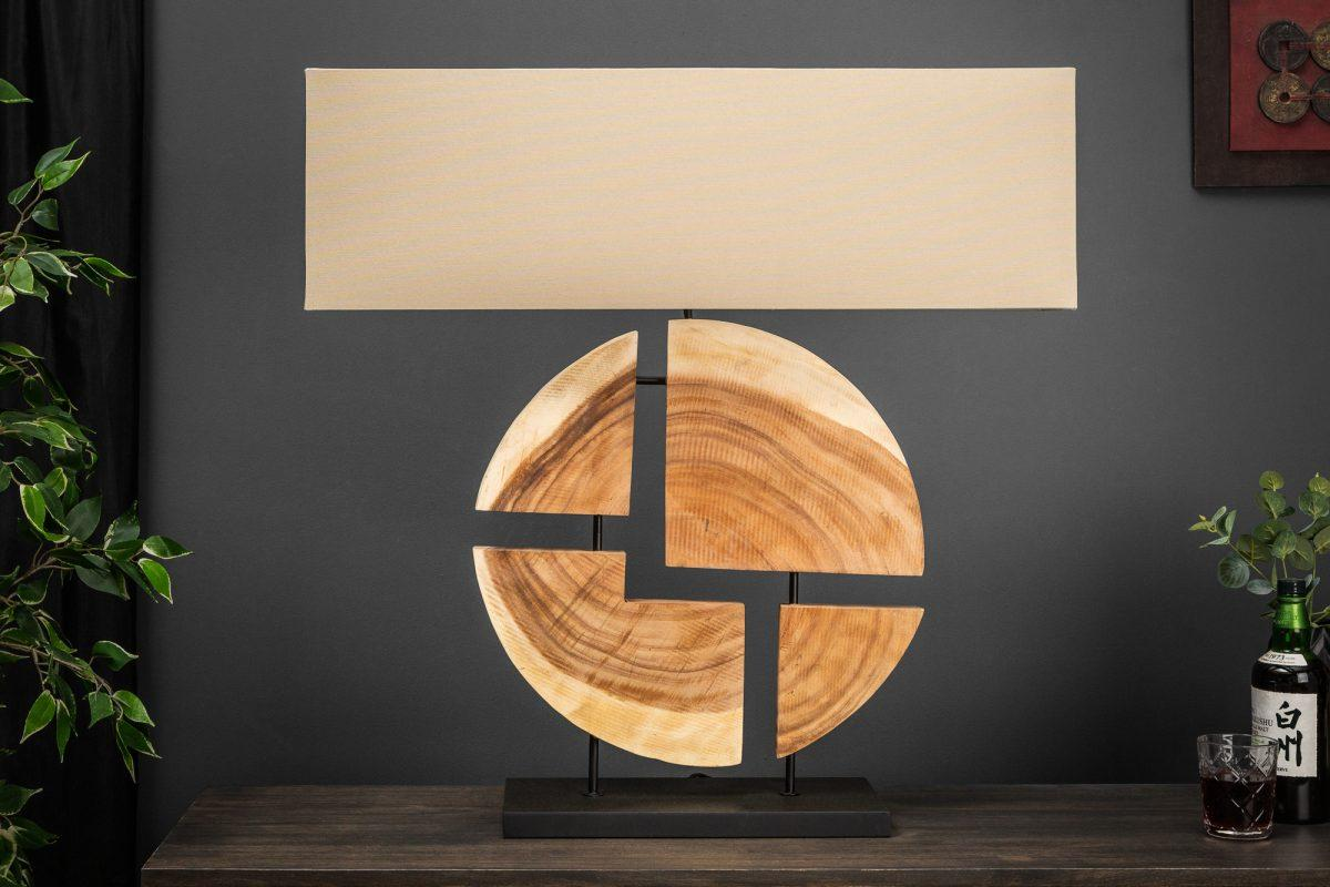 Dizajnová stolná lampa Lorelei, 80 cm, orech