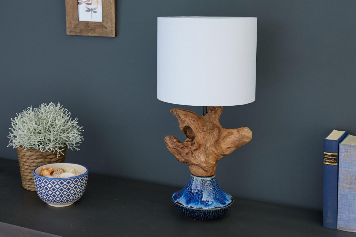 Dizajnová stolná lampa Sloane, 91 cm orech