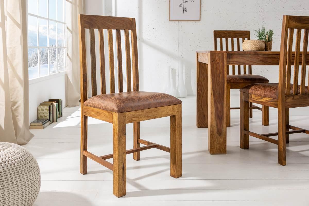 LuxD 21626 Dizajnová stolička Timber, sheesham