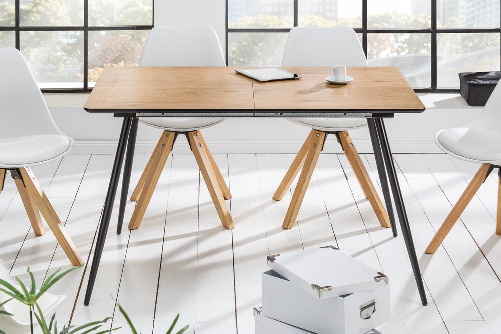 LuxD Rozťahovací jedálenský stôl Nathalie 120 - 160 cm dub