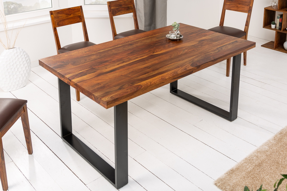 LuxD Dizajnový jedálenský stôl Thunder 140 cm sheesham