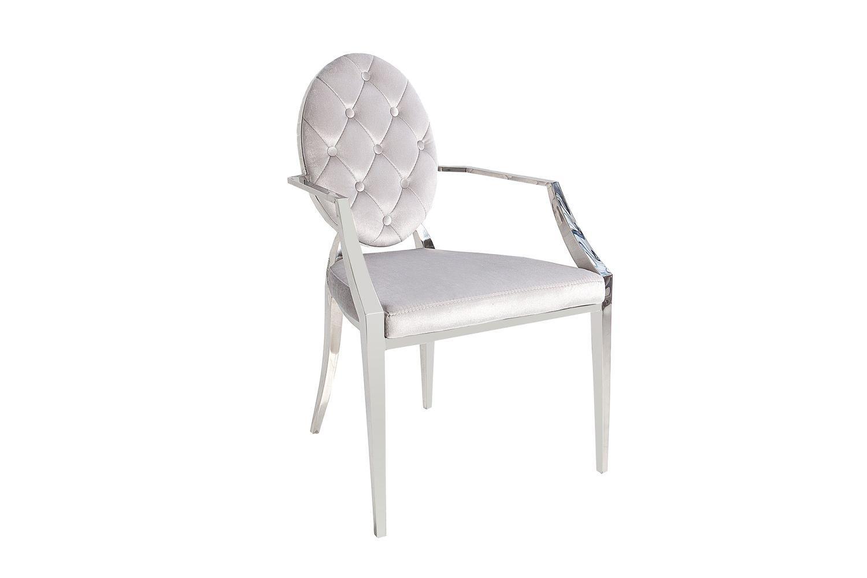 Dizajnová stolička Rococo II šedá / s opierkami