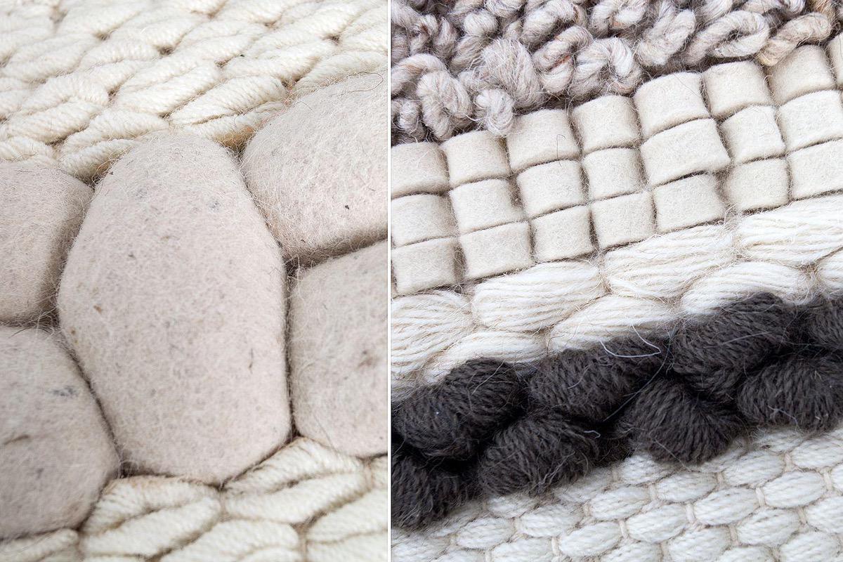 Dizajnový koberec Rebecca 200x120 cm / prírodná plsť