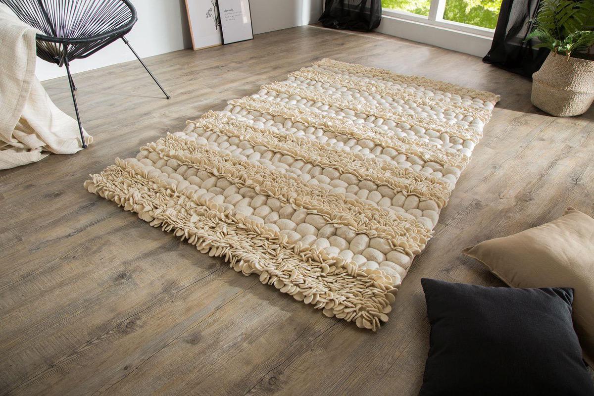 Dizajnový koberec Rebecca II 200x120 cm / prírodná plsť