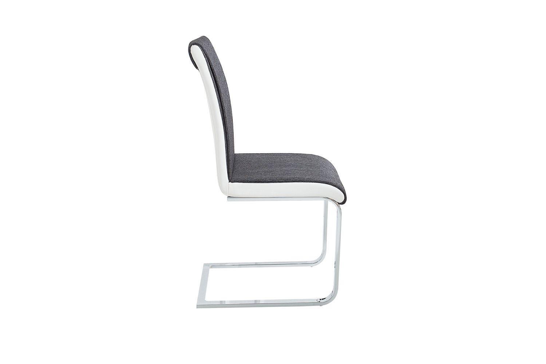Dizajnová stolička Elegant /antracitová sivá - biela