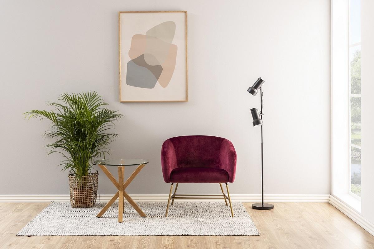 Dkton Moderný odkladací stolík Ajamu, imitácia dubové drevo
