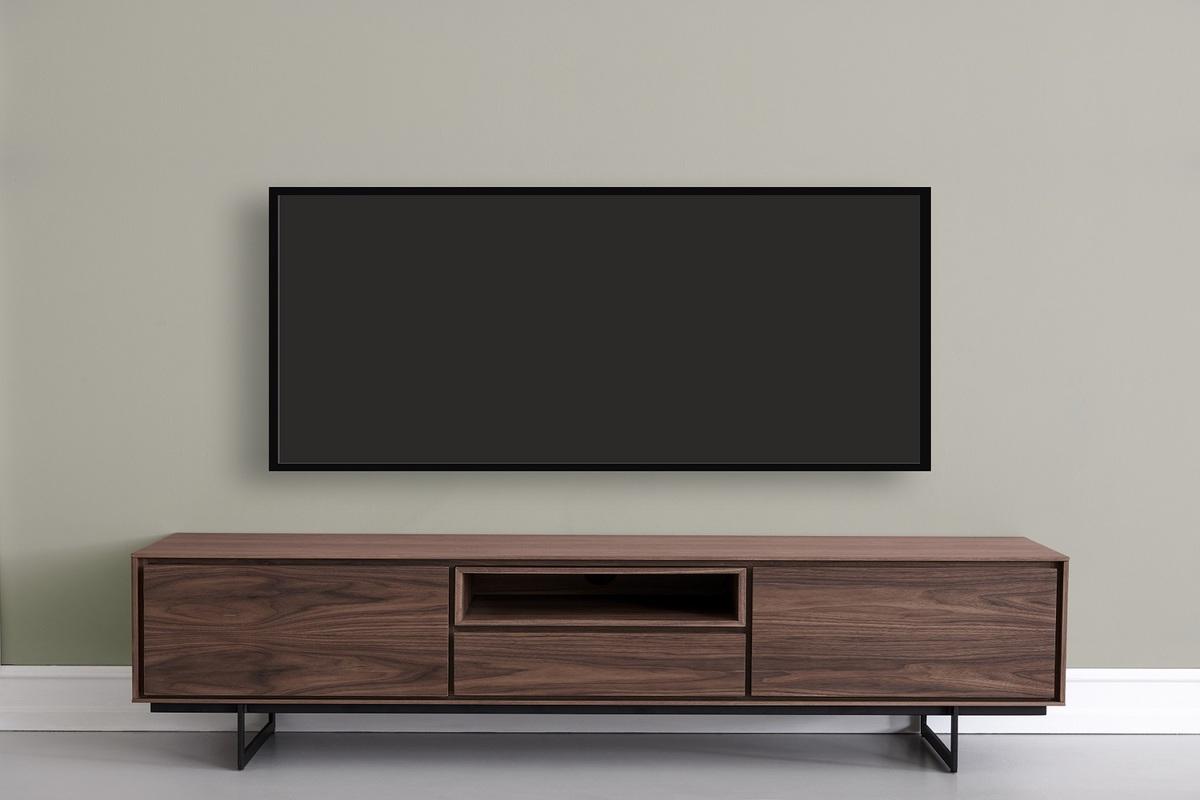 Furnistore Moderný TV stolík Aage, vlašský orech