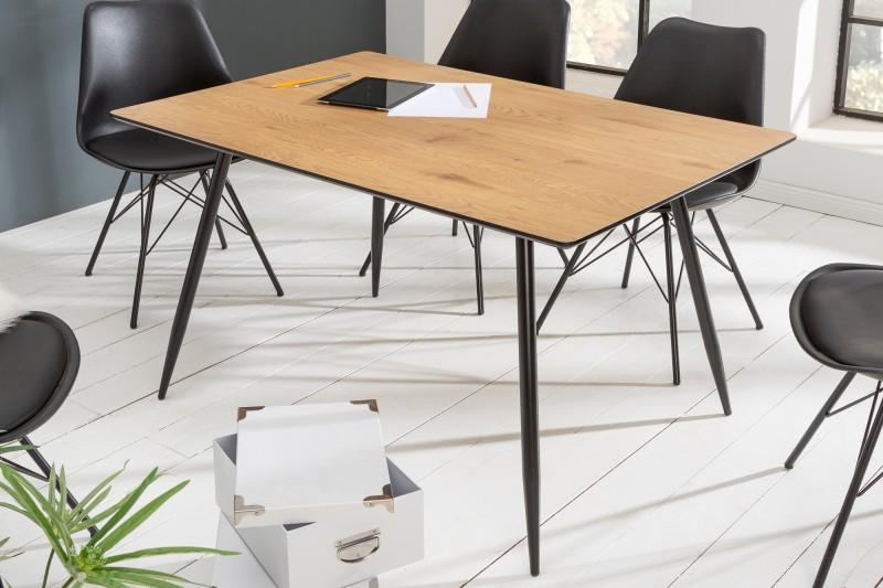 LuxD Dizajnový jedálenský stôl Nathalie 140 cm dub