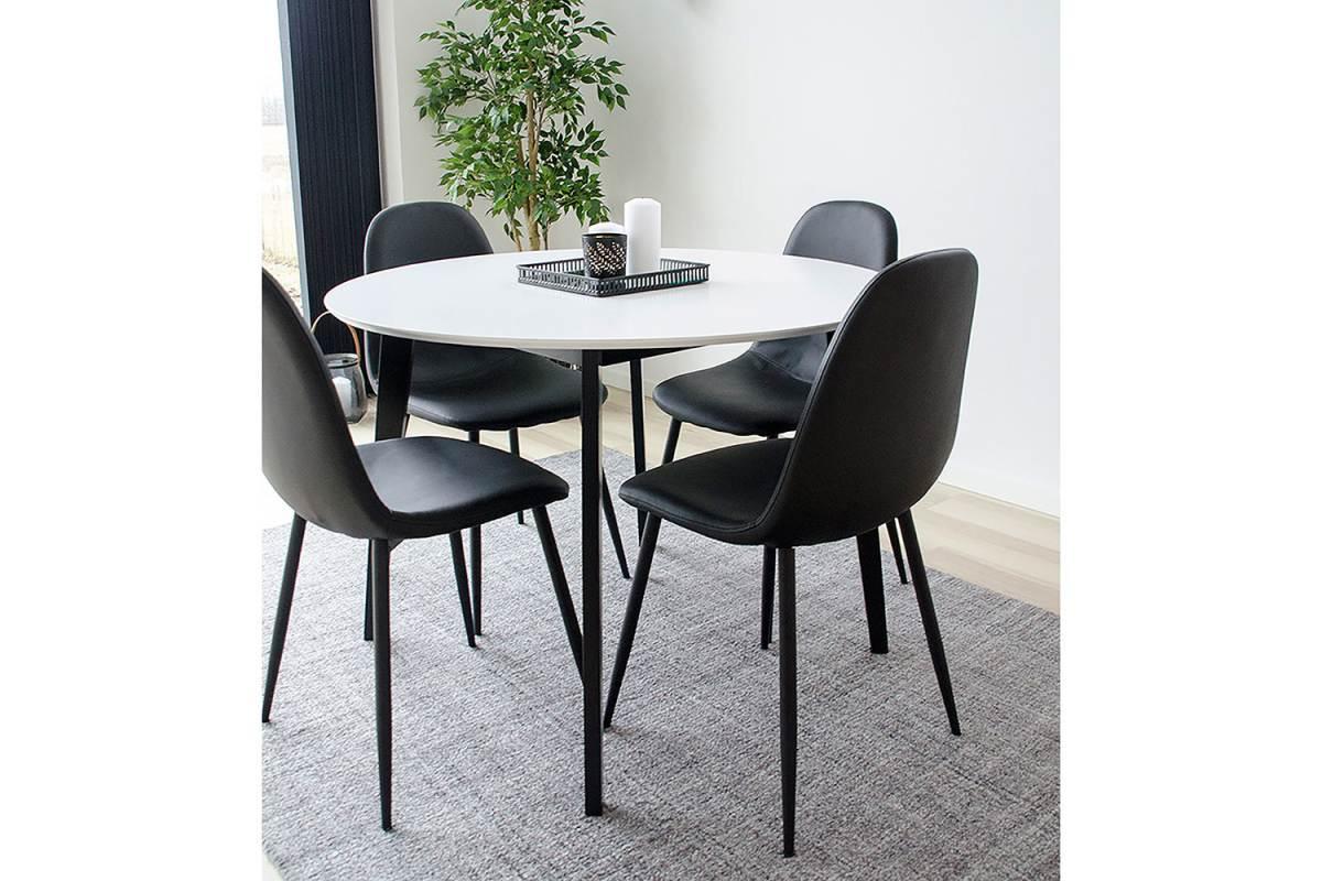 Norddan Okrúhly jedálenský stôl Carmen, čierny / biely