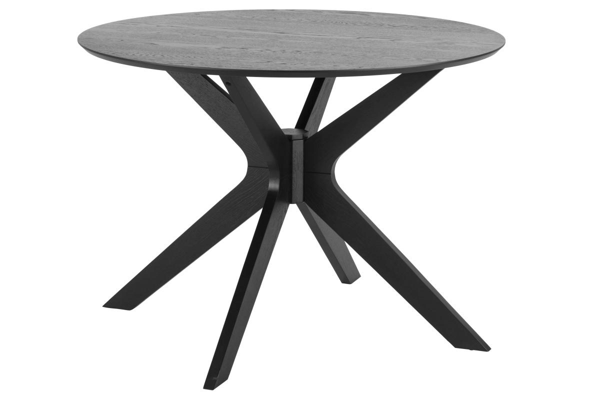 Dkton Okrúhly jedálenský stôl Neeja 105 cm dub čierny