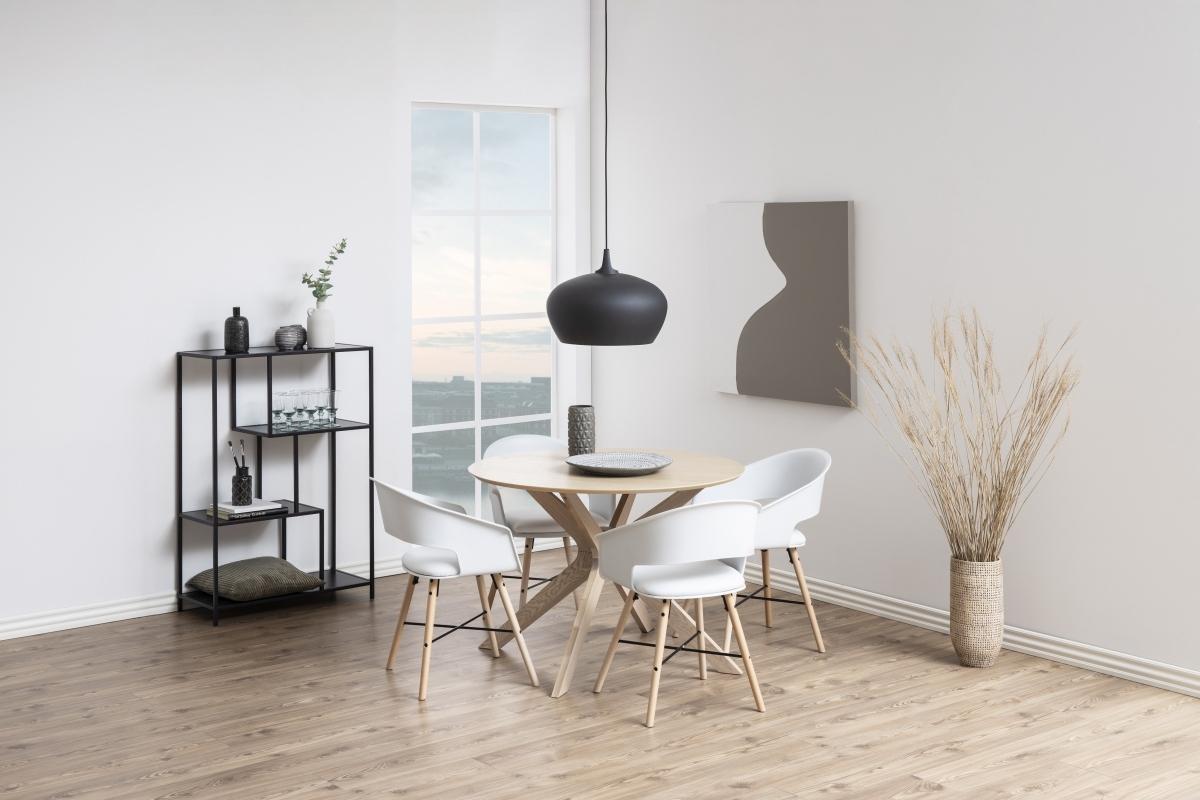Dkton Okrúhly jedálenský stôl Neeja 105 cm dub
